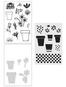 Wendy Vecchi Stamp, Die & Stencil Set - Flower Pot - WVZ65968